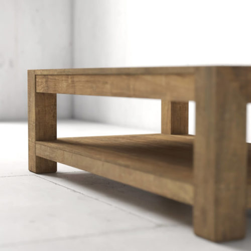 60'' Agency Coffee Table (Natural) by Urban Woodcraft 6