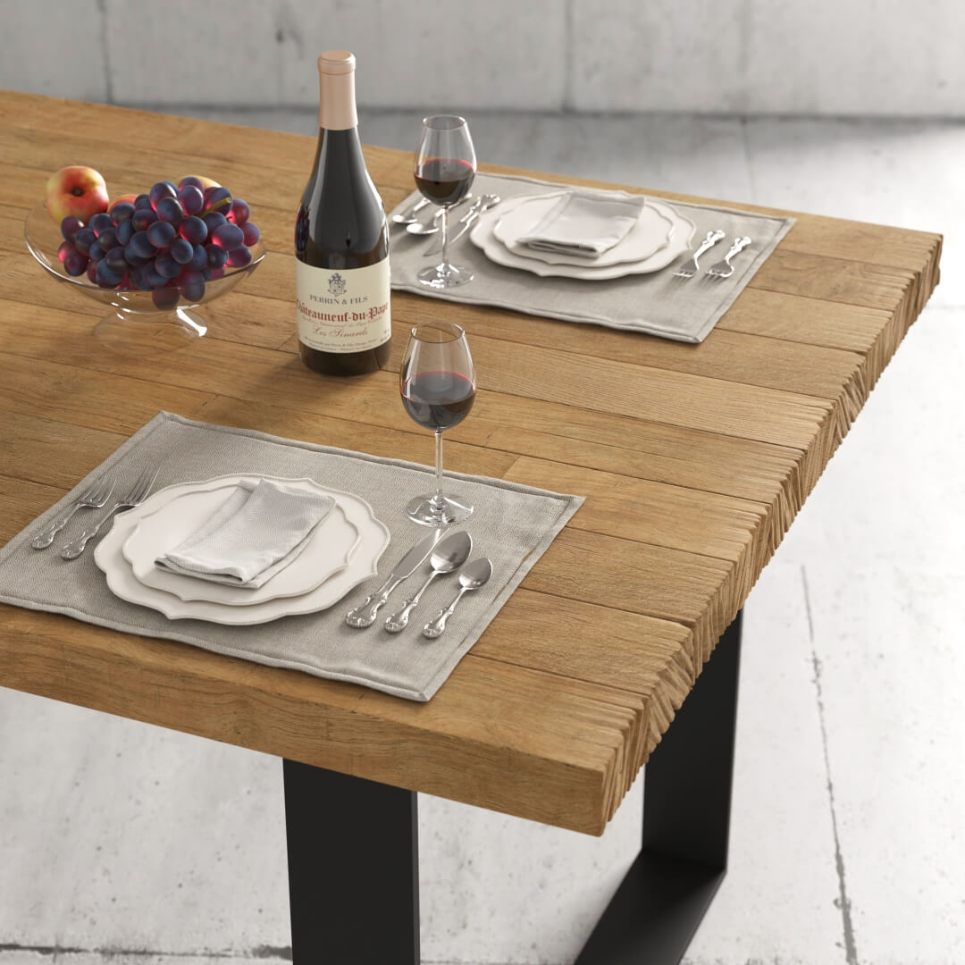 Urban Woodcraft 78'' Soma Natural Wood Dining Table 1 MAIN