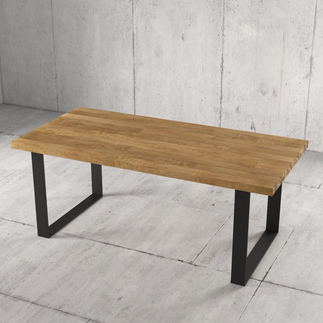 Urban Woodcraft 78'' Soma Natural Wood Dining Table 3