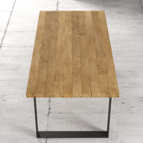 Urban Woodcraft 78'' Soma Natural Wood Dining Table 5