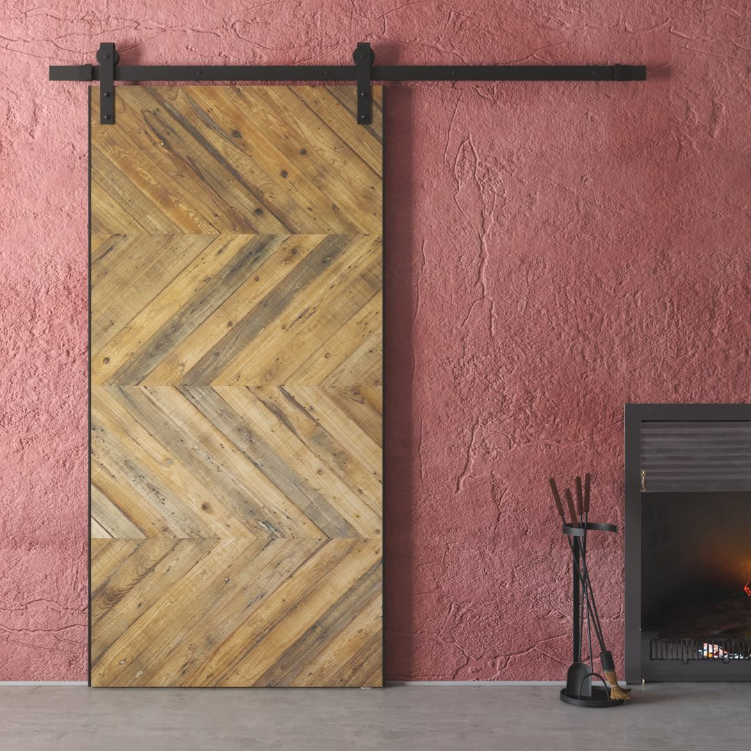 40 Quot Chevron Barn Door Natural Urban Woodcraft