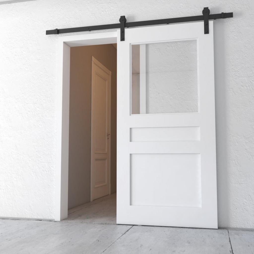 """Barn Door Pantry: 40"""" Butler's Pantry Barn Door (White)"""