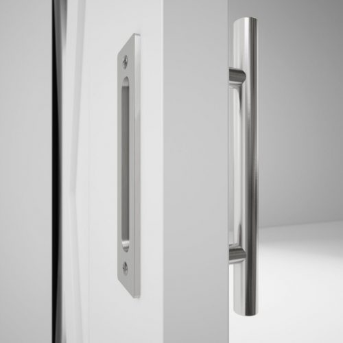 19 th street silver 2 sided handle DOOR