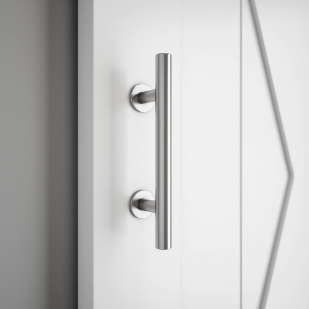 19th Street Barn Door Handle Brushed Nickel Urban Woodcraft