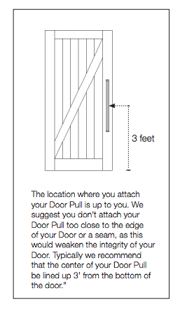 Barn + Door Door Pull Handles