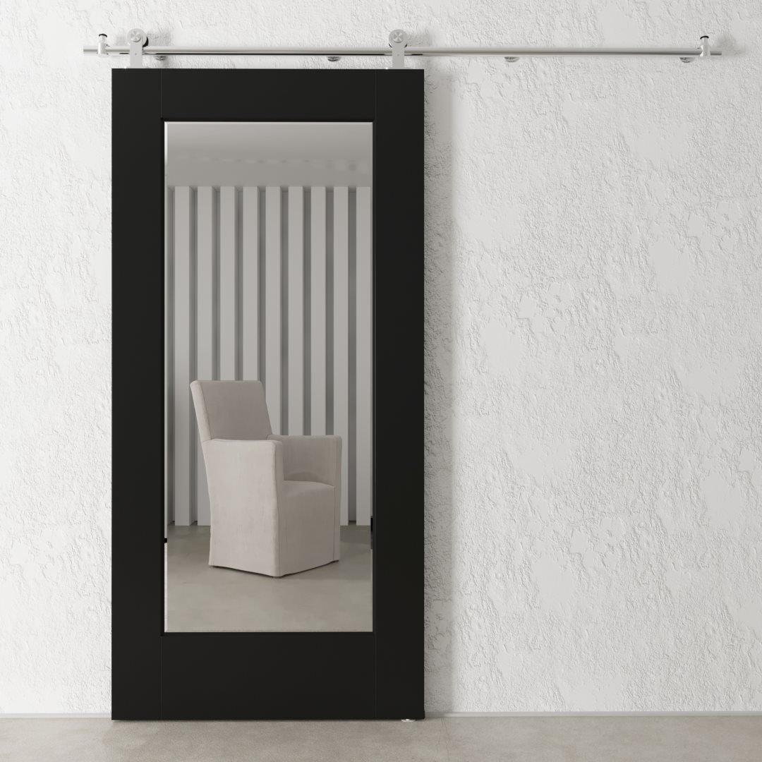 40 Quot Beveled Mirror Barn Door Espresso Urban Woodcraft