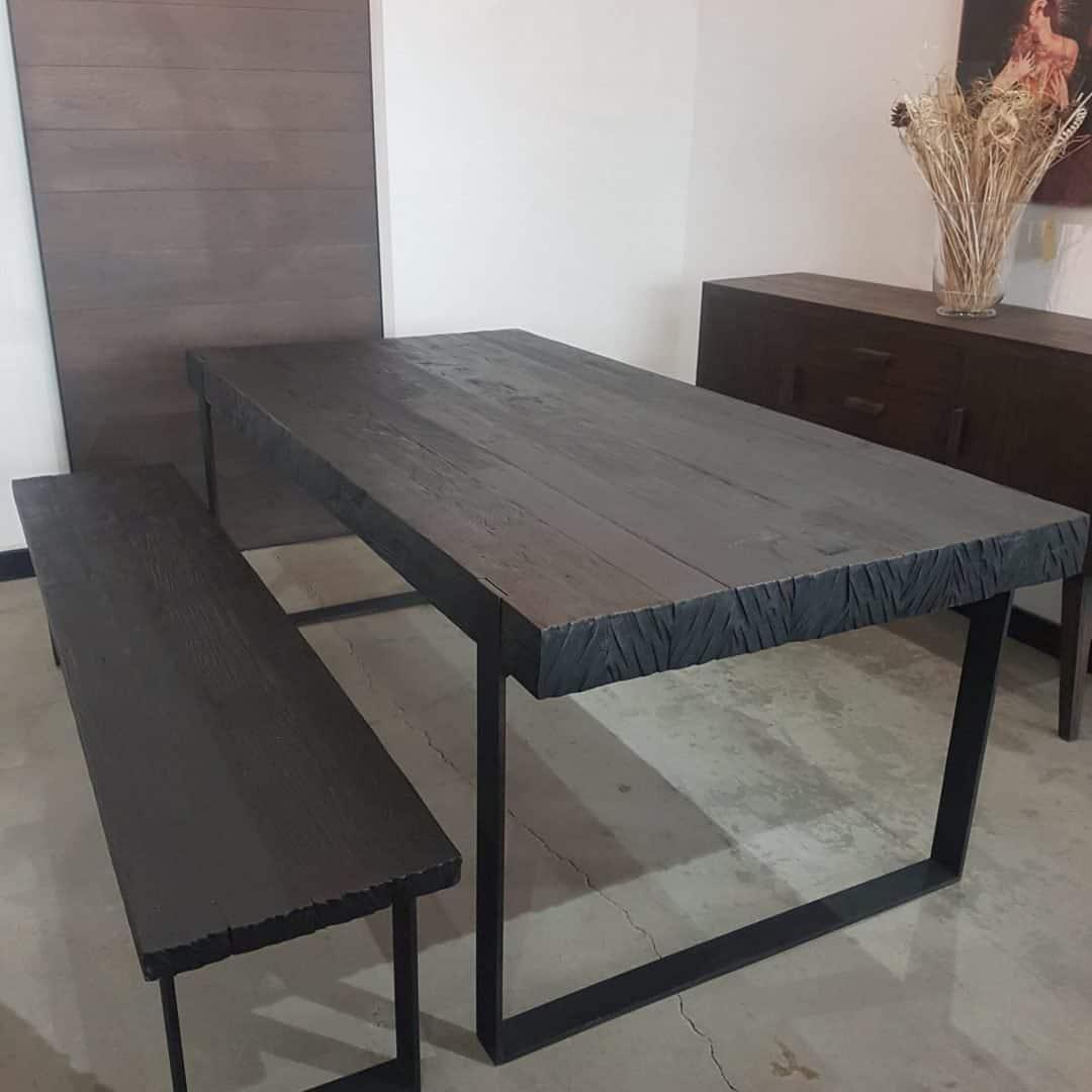 78 HUDSON DINING TABLE - BLACK (10)