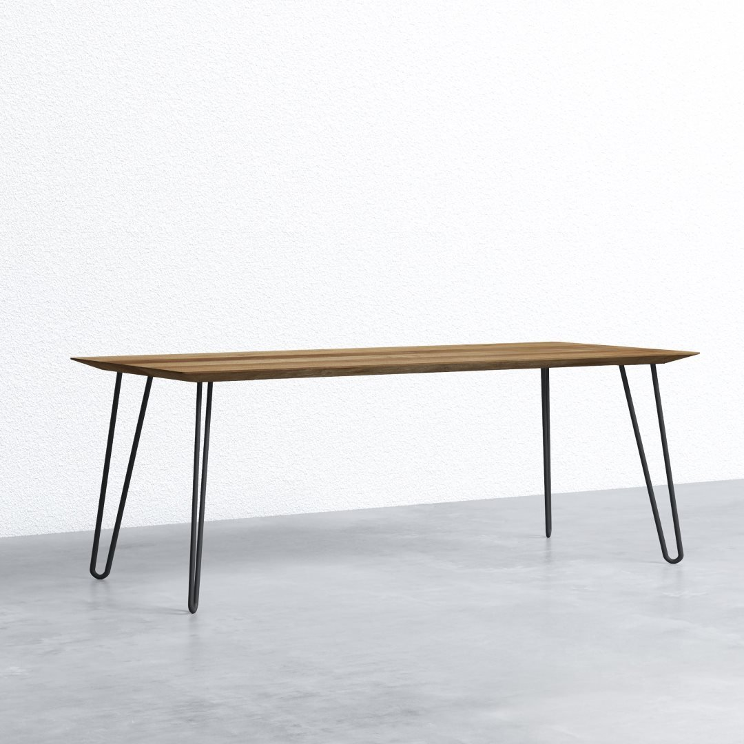 98 Farmhouse Dining Table Charcoal Urban Woodcraft